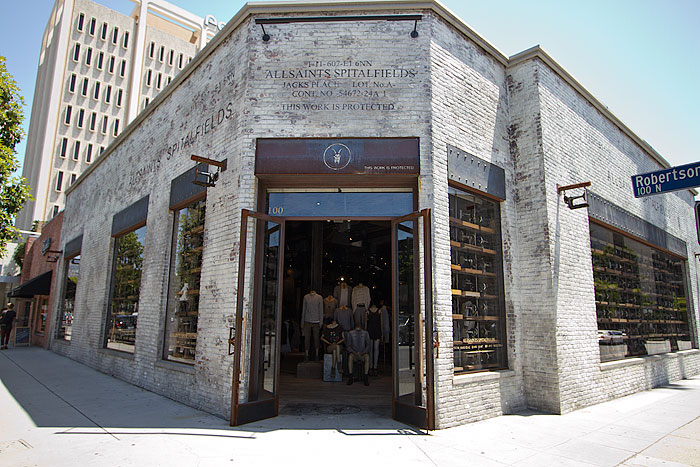 Allsaints Spitalfields Robertson Boulevard Shopping Dining Amp Travel Guide For Los Angeles